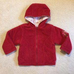 EUC Gymboree reversible hooded zip up